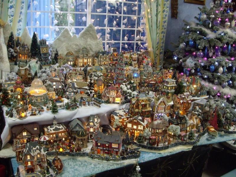 décor village de noël miniature