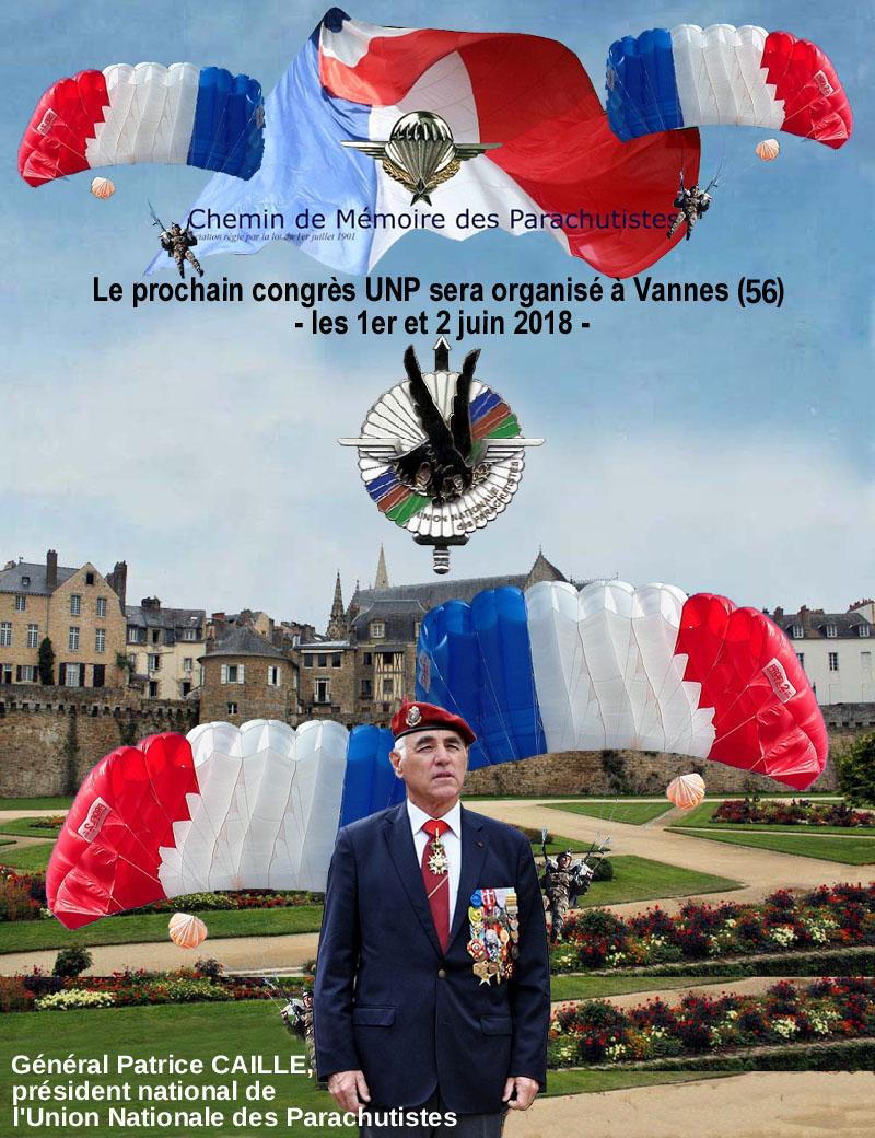 Vannes. Le congrès national des parachutistes les 1er et 2 juin 2018