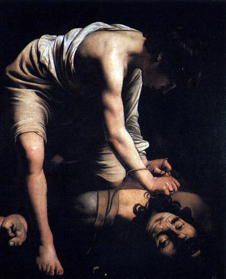 caravage, davis et goliath,bmc,peinture,peintures,