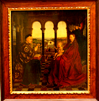 la vierge du chancelier rolin,jan van eyck,art-maniac le blog de bmc, http://art-maniac.over-blog.com/ le peintre bmc,