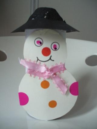 Bonhomme de neige avec rouleau papier toilette - Pere noel en rouleau de papier toilette ...