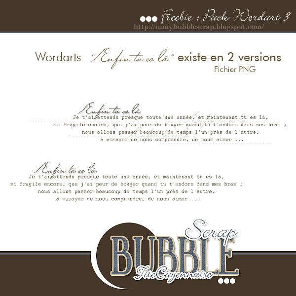 http://inmybubblescrap.blogspot.com/2009/05/wordart-enfin-tu-es-la.html