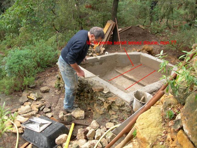 Notre bassin pour tortues for Peut on construire sur terrain agricole