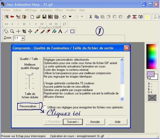 *Configuration d'Animation Shop dans Tutoriels de base AS config10