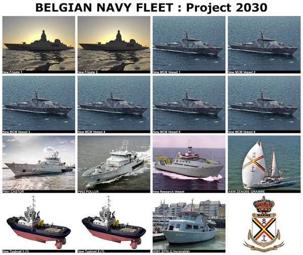Belgian Navy Fleet : Project 2030