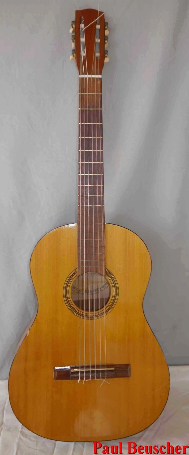 vraie affaire style unique New York Guitare vintage Paul Beuscher à restaurer   eBay