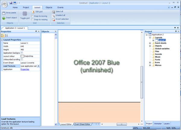 Office 2007 Blue