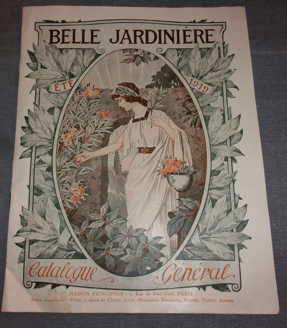 Catalogue ancien belle jardiniere 1919 for Catalogue jardinerie