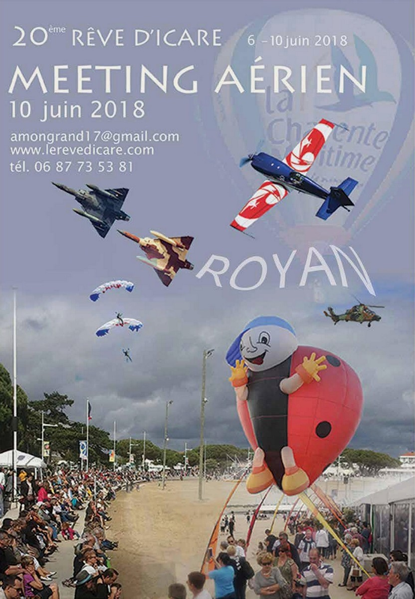 Le Rêve d'Icare Royan - 20ème Edition du 6 au 10 juin 2018, Charente-Maritime , meeting aerien 2018