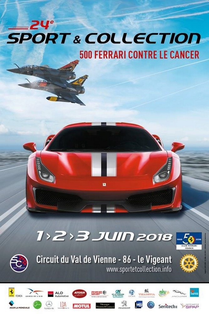 Sport & Collection - 500 Ferrari contre le cancer 2018 , couteau delta 2018 , show aerien