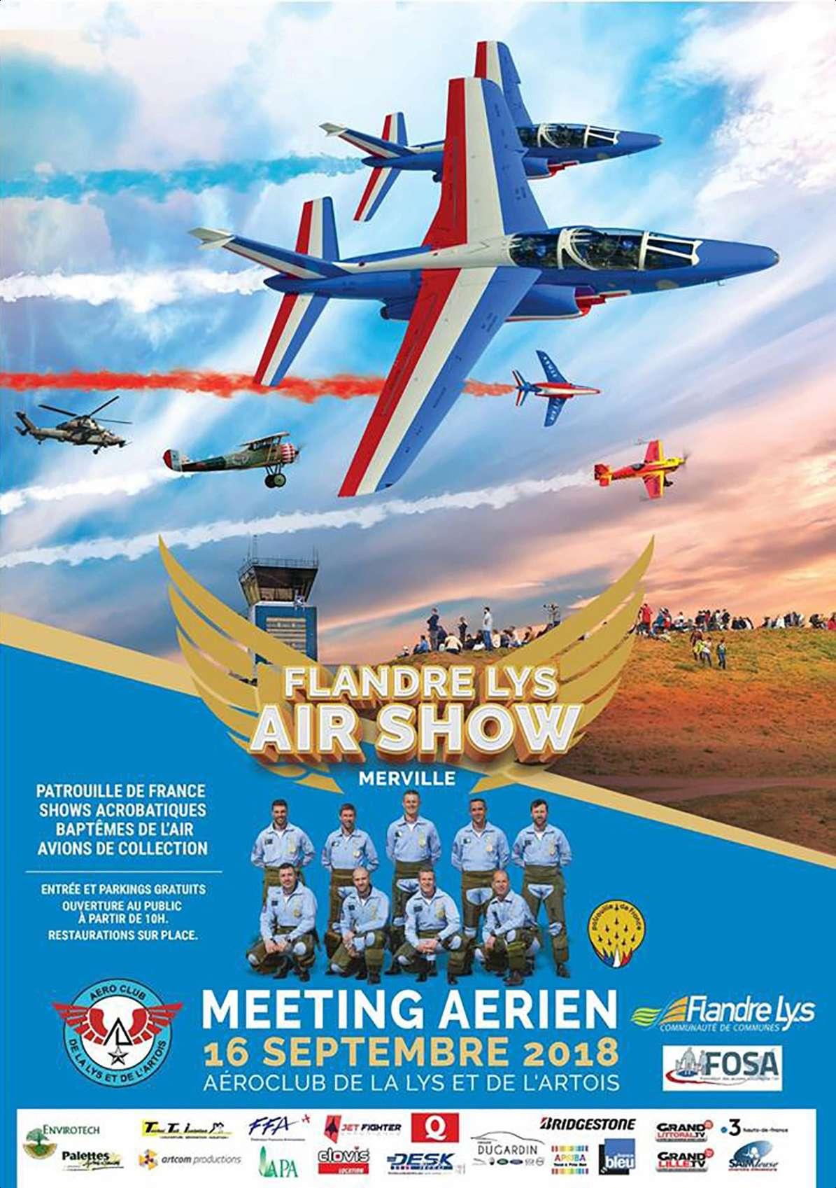 Flandre-Lys Air Show 2018, base Éolys, meeting aérien de Merville-Lestrem 2018