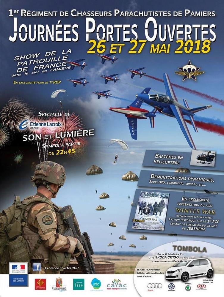 Journée porte ouverte 1er Régiment de chasseurs parachutistes 2018 , , 1erRCP , Armée de Terre , Patrouille de france 2018 , meeting Aerien 2018