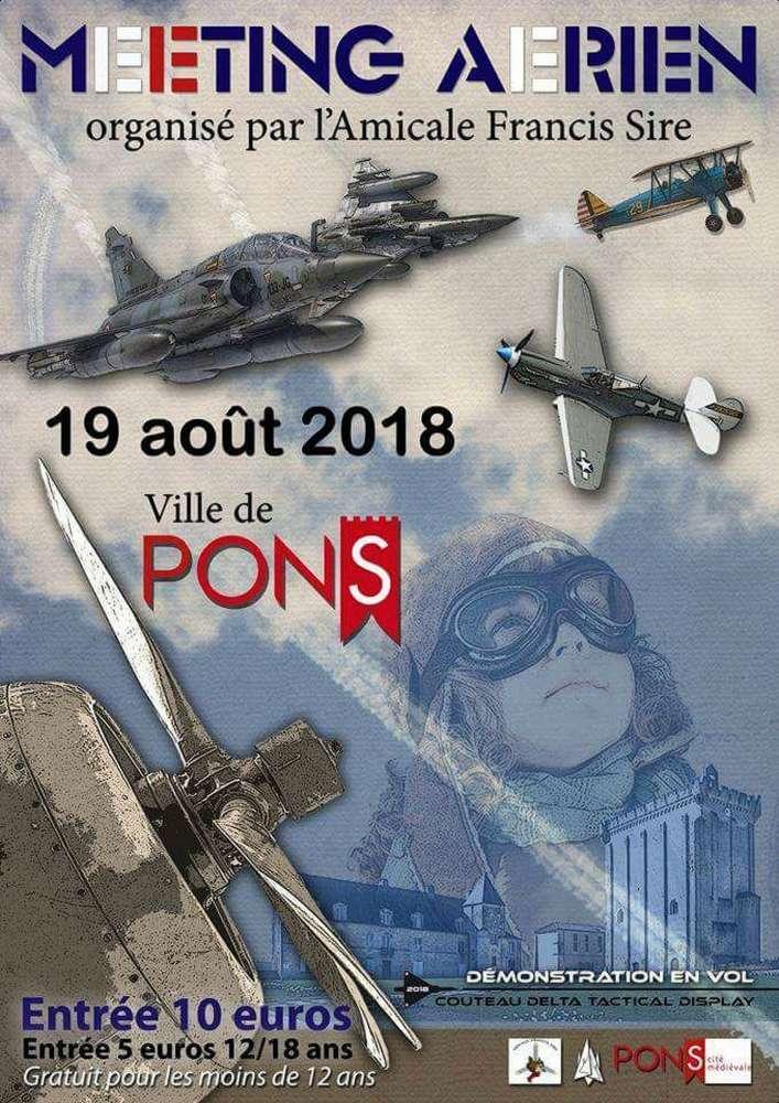 Meeting Aerien de Pons 2018 , meeting de l'Amicale Francis Sire , Aérodrome de Pons-Avy, show aerien - airshow ,meeting aerien 2018