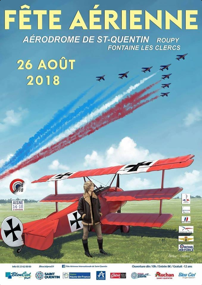 Fête Aérienne de Saint Quentin Roupy 2018 ,meeting aerien 2018