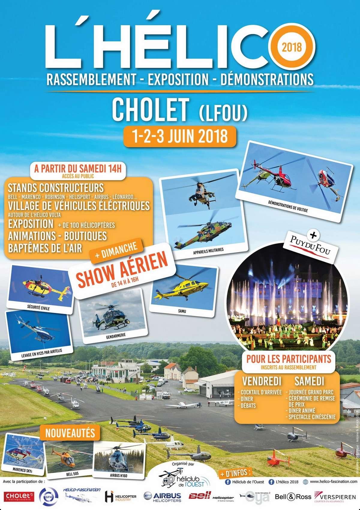Aerodrome de Cholet - Le Pontreau 2018 , meeting aerien , hélicoptere , L'Hélico 2018 cholet , Rassemblement – Expo – Salon – Show aérien 2018
