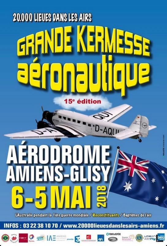 20000 Lieues dans les Airs 2018, Aérodrome Amiens-Glisy, Kermesse aéronautique familiale , meeting Aerien 2018