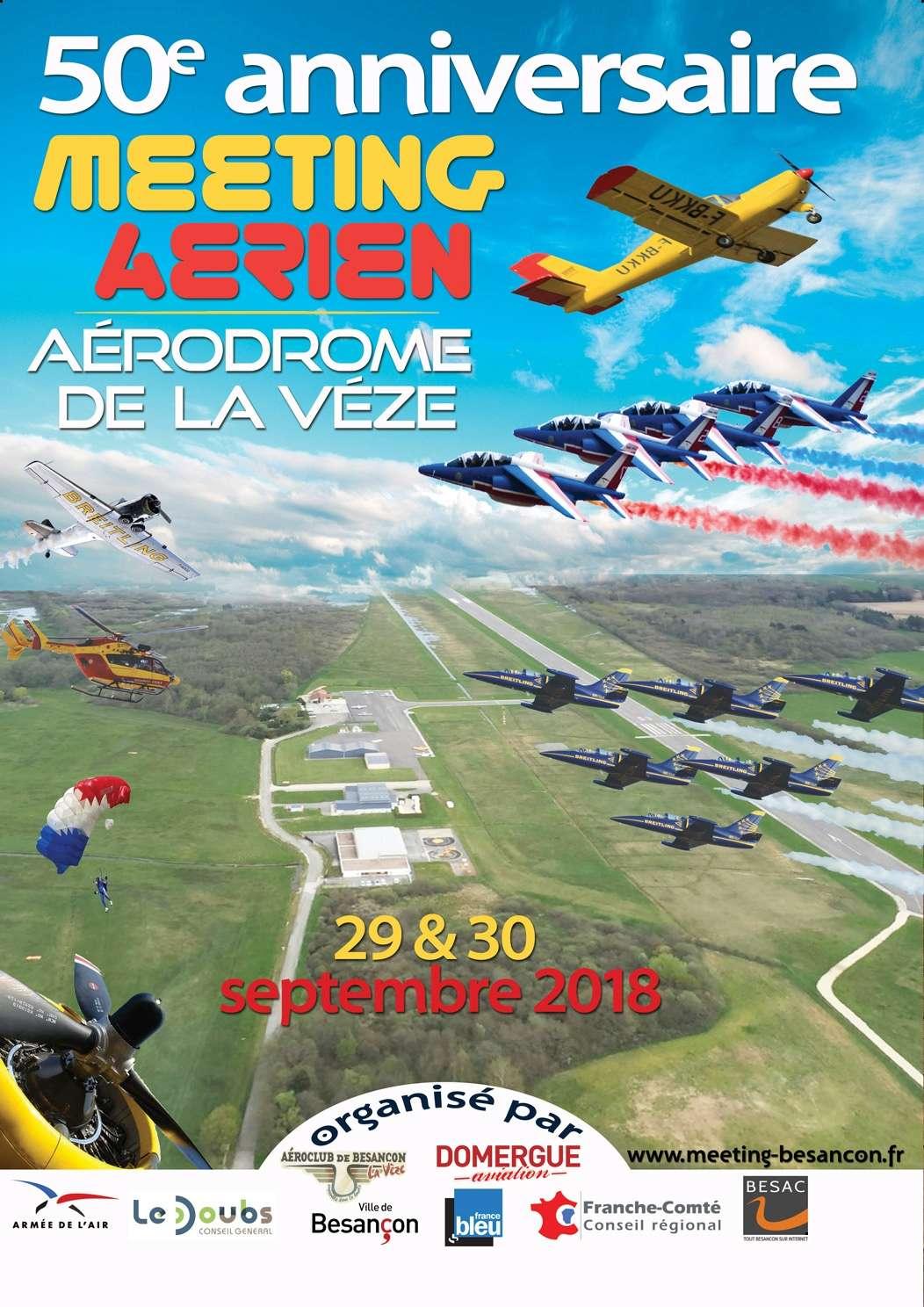 Meeting Aerien Besançon 2018 , 29 et 30 septembre 2018 , Aérodrome de la Vèze , patrouille de france 2018 , meeting aerien 2018