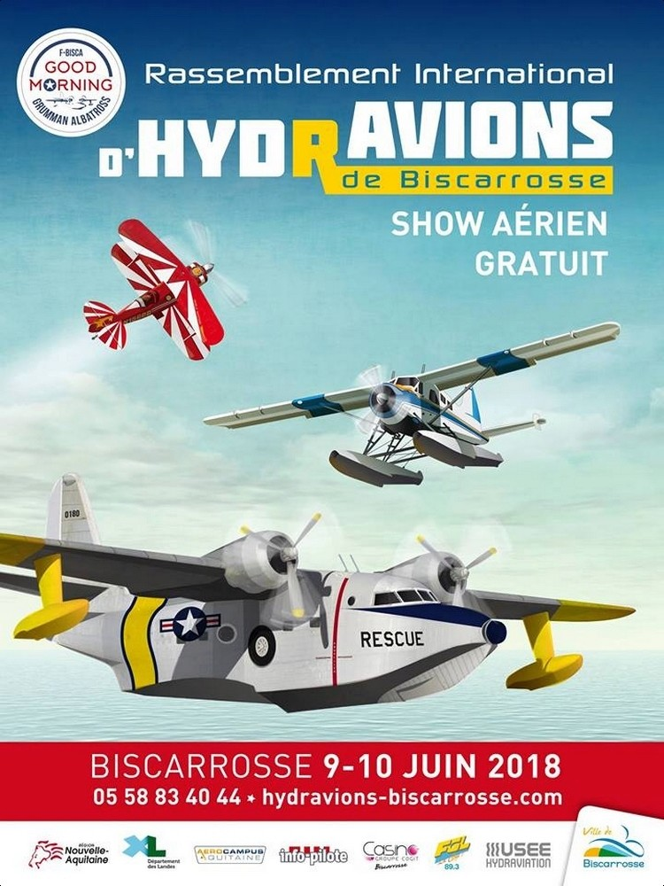 Rassemblement International d'Hydravions Biscarrosse 2018 , Base Latécoère, Marine National, meeting aerien 2018