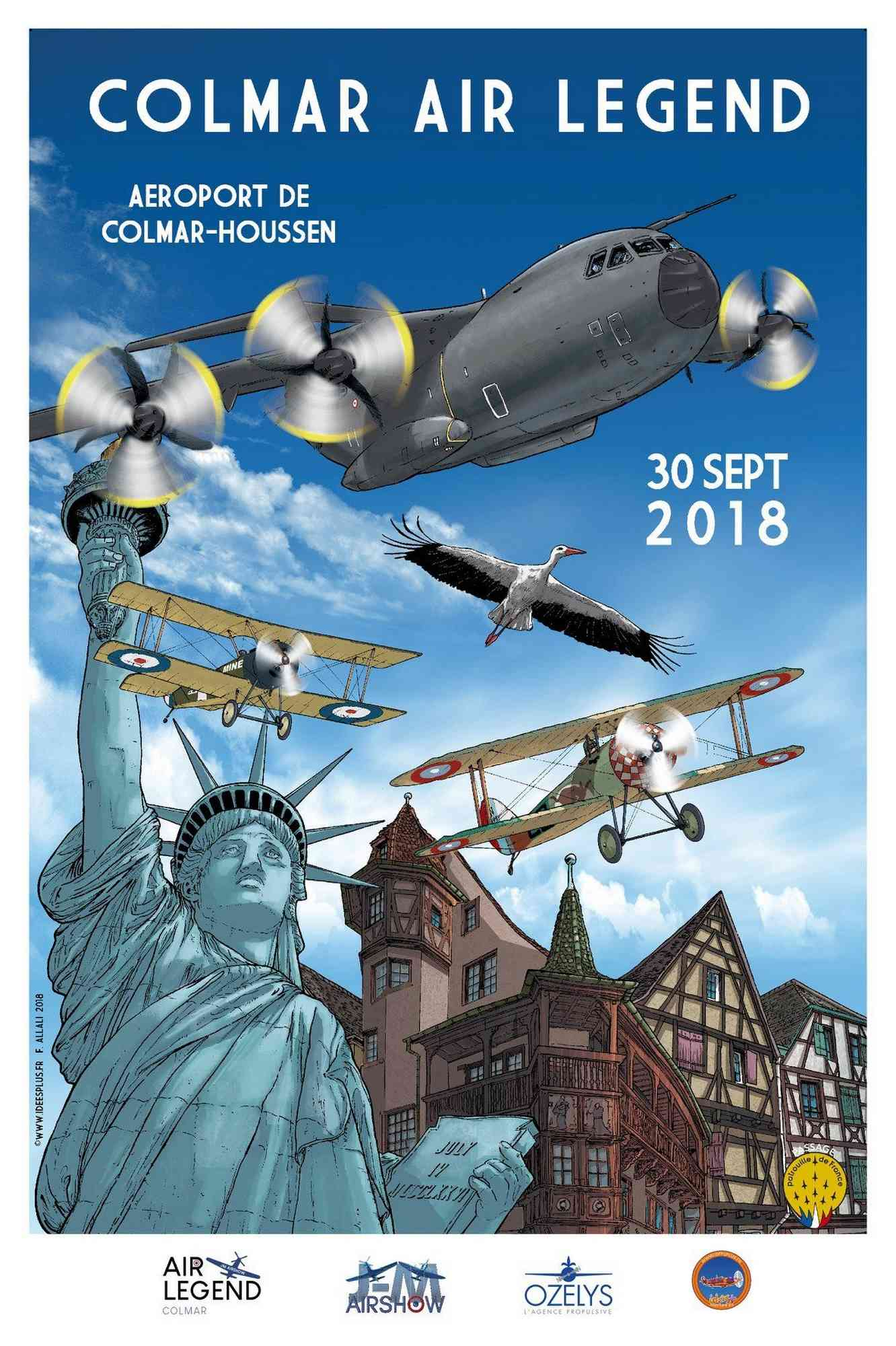 Meeting aérien Colmar Air Legend - Aéroport de Colmar-Houssen ,ozelys.aero , 29 et 30 septembre 2018 , meeting aerien 2018