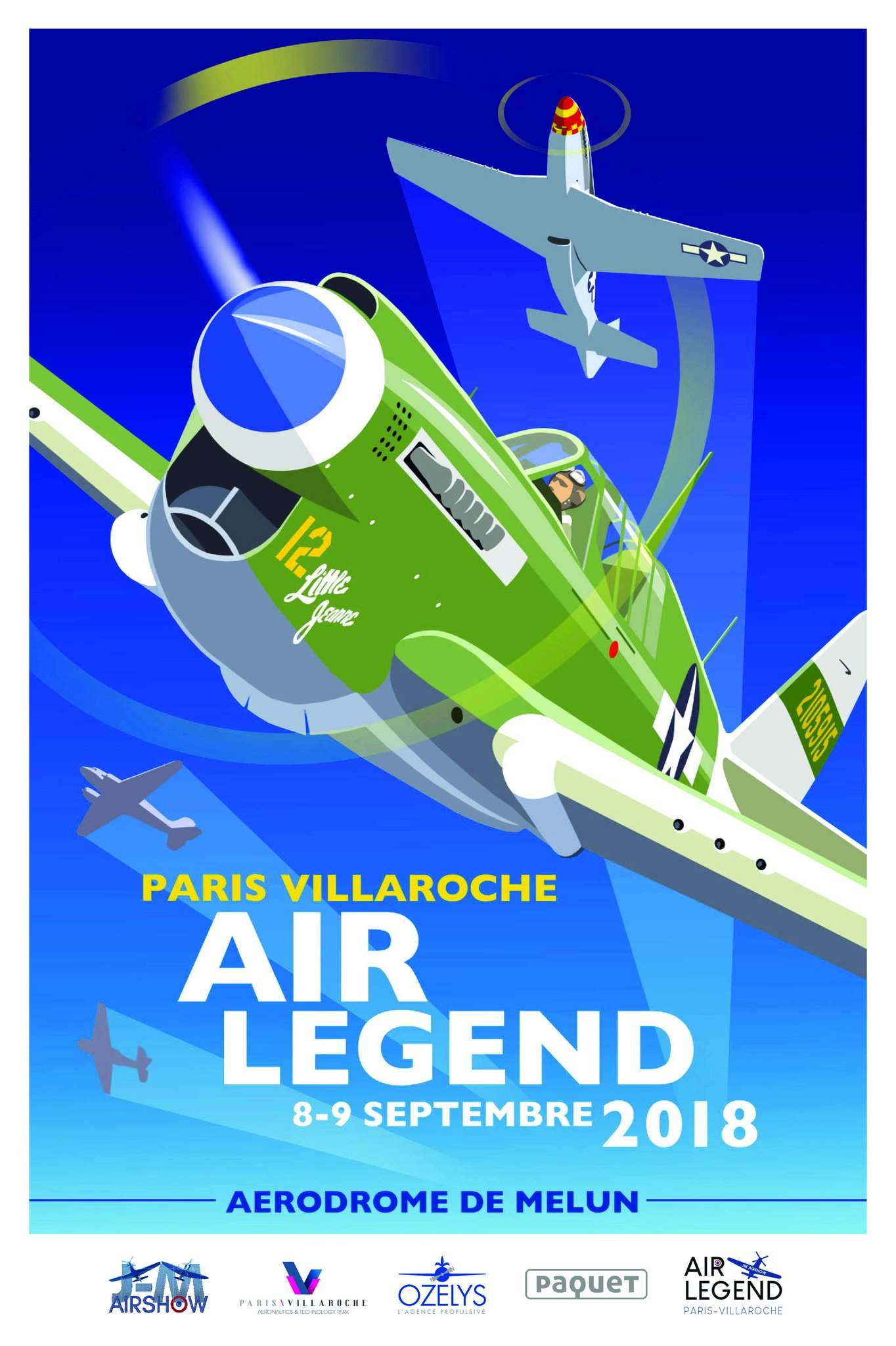 Ozelys , Meeting aérien Paris-Villaroche Air Legend Aérodrome de Melun ,warbirds , 14-18 , 8 et 9 septembre 2018 , meeting aerien 2018