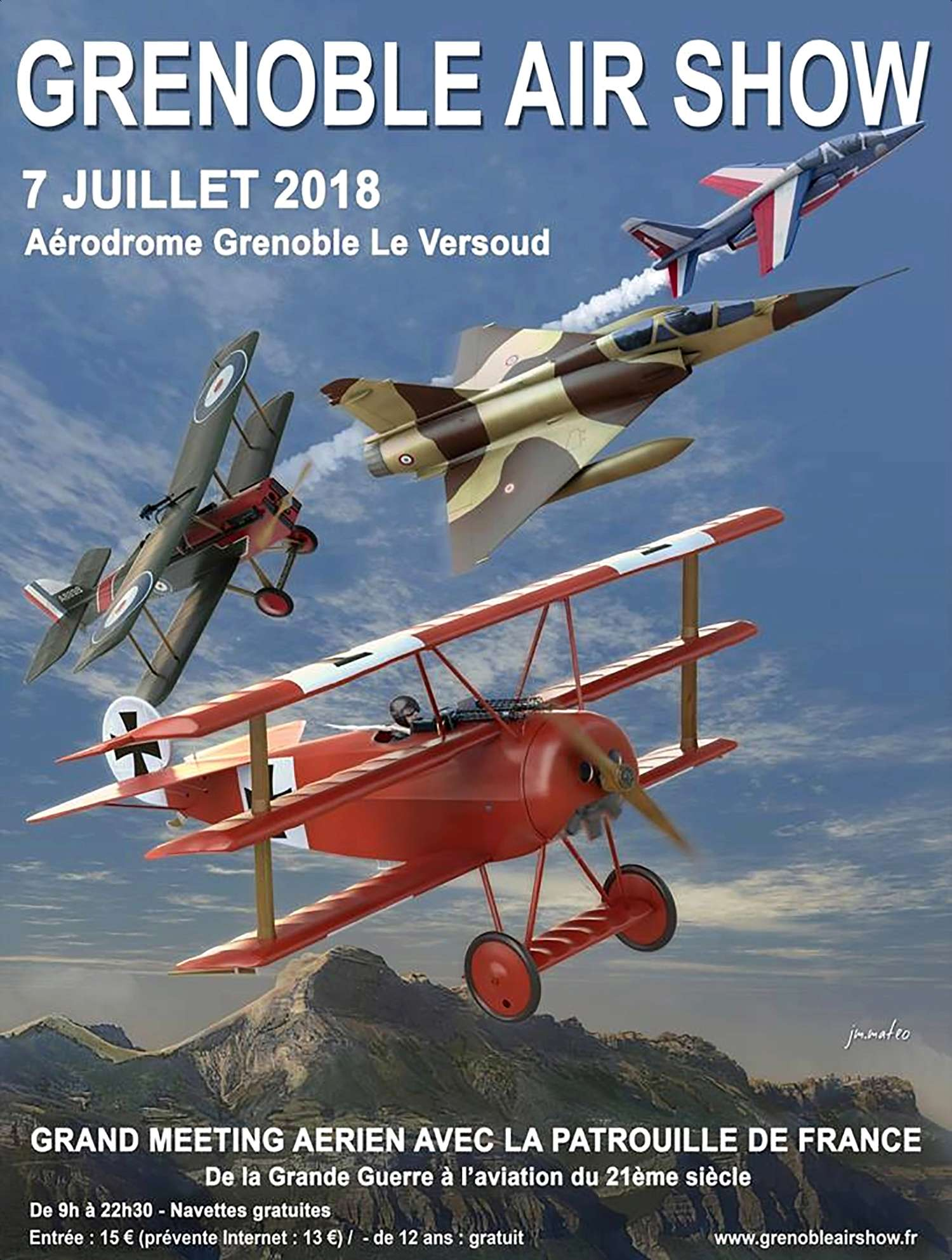 Grenoble Airshow 2018 sunset , 7 juillet, Aerodrome de Grenoble-Versoud , couteau delta 2018 , rhone-Alpes, armée de l'air ,meeting aerien 2018 , Grenoble Air Show
