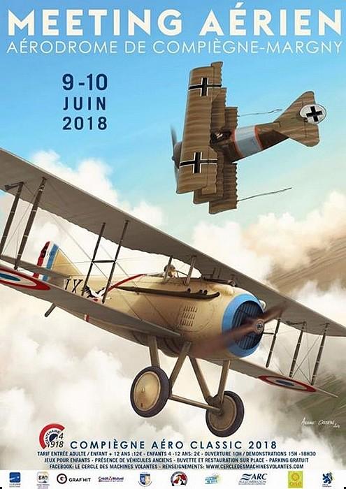 Compiègne Aéro Classic 2018,Le Cercle des Machines Volantes, Margny-lès-Compiègne , meeting aerien 2018