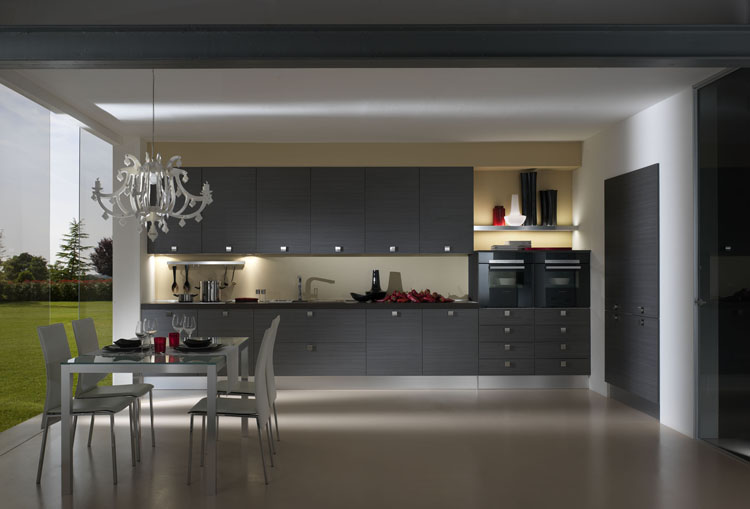 Couleur mur pour cuisine cuisine amnage noir et blanc for Meuble de cuisine blanc quelle couleur pour les murs