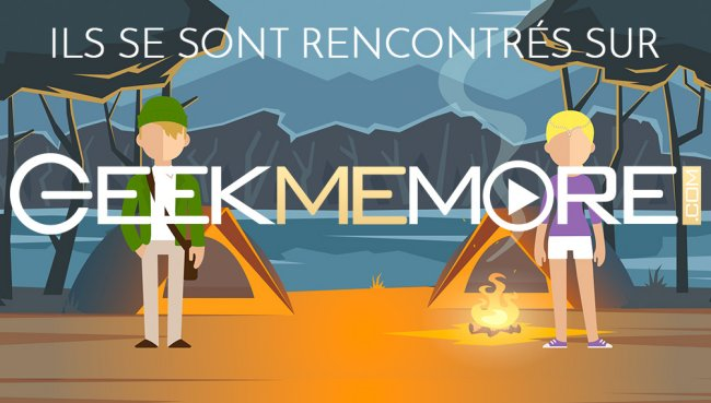 news geekmemore le tout premier site de rencontre 100 geek cin m dia critiques films et. Black Bedroom Furniture Sets. Home Design Ideas