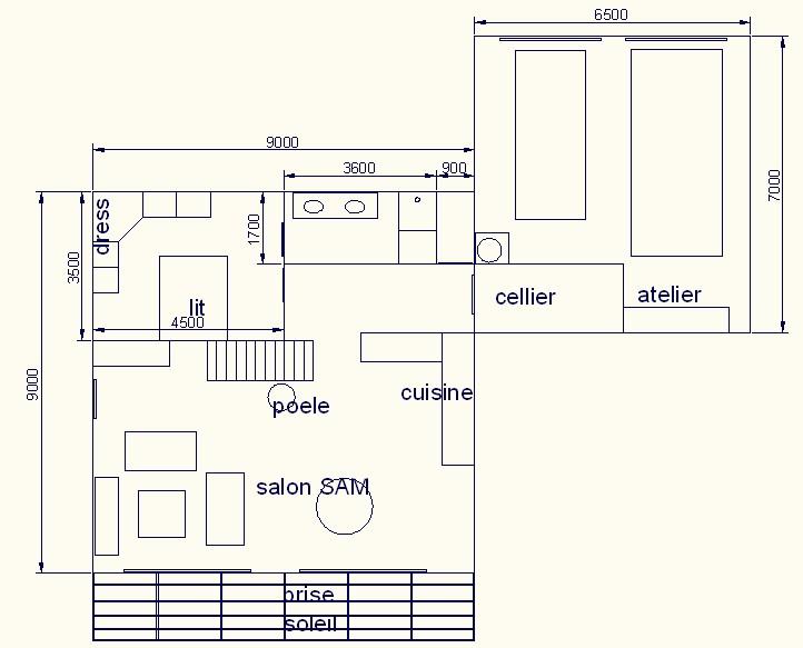 Premier plan 39 fait maison 39 maison cubique r 1 maj - Plan de maison cubique ...