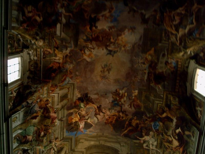 Eglise rome plafond trompe loeil id e - Amenagement salon rectangulaire ...