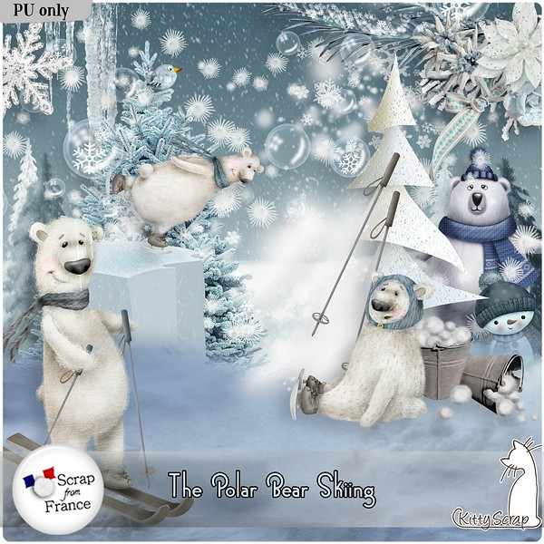 Little polar beard skiing de Kittyscrap dans Février kittys23