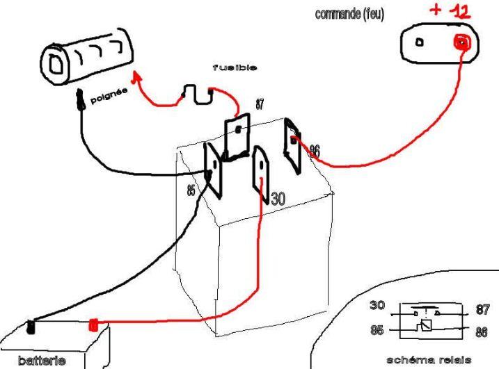 branchement d 39 un relais. Black Bedroom Furniture Sets. Home Design Ideas