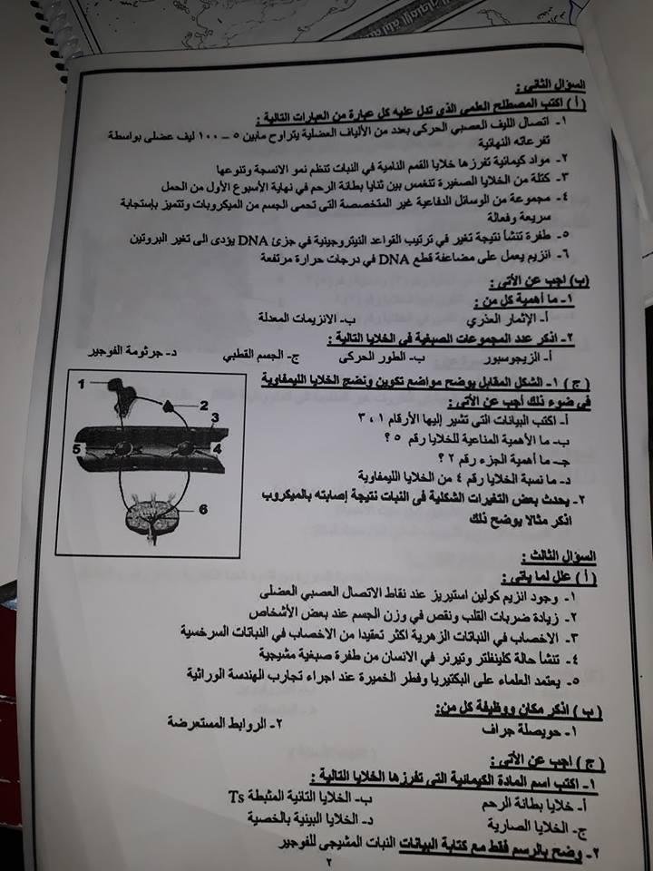 امتحان السودان الاحياء للثانوية العامة 2018