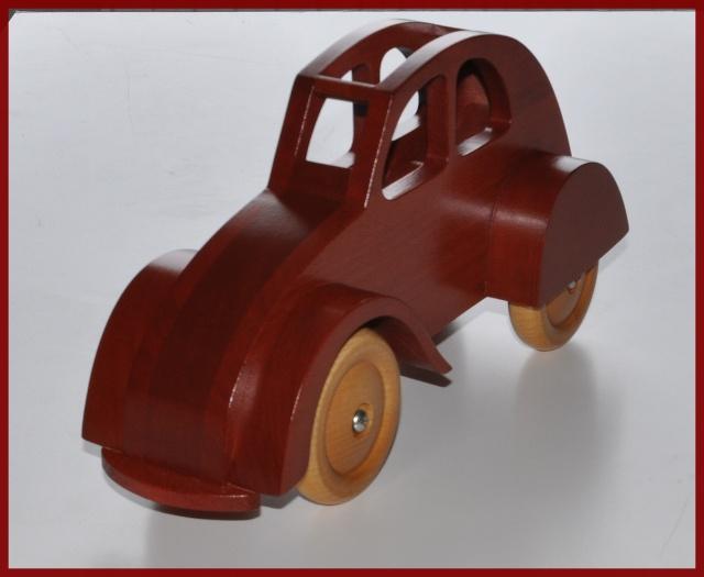 2 cv jouet en bois