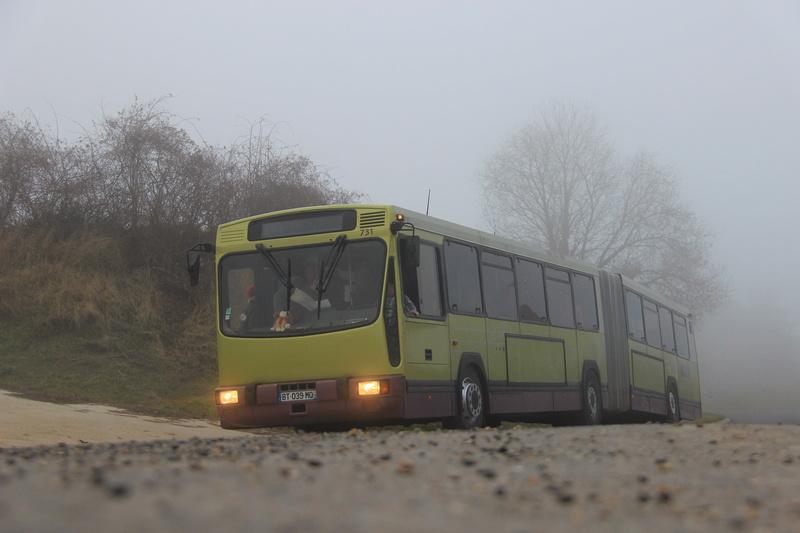 Le 731 sort du brouillard, à Villers-Marmery