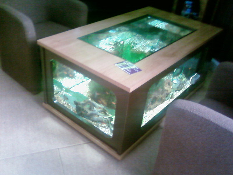 aquarium table salon. Black Bedroom Furniture Sets. Home Design Ideas