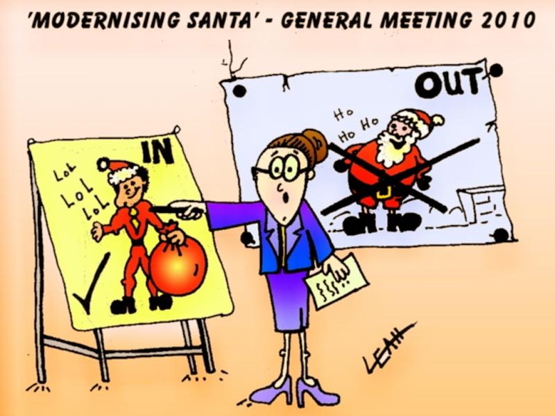 Funny Christmas Cartoons - Modernising Santa, Playboy Mansion Xmas ...