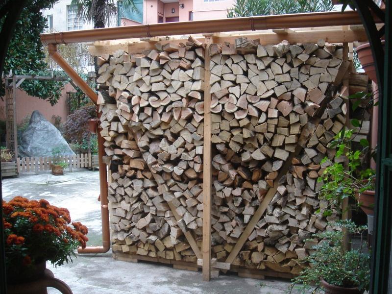 Accatastamento e stagionatura legna da ardere pagina 3 for Una casa di tronchi con garage