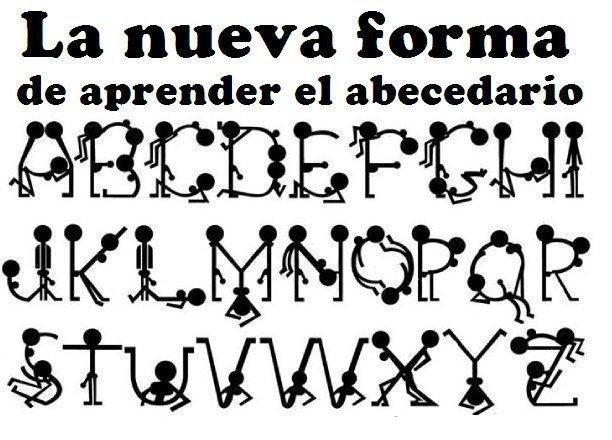 Letras del abecedario en distintas formas - Imagui
