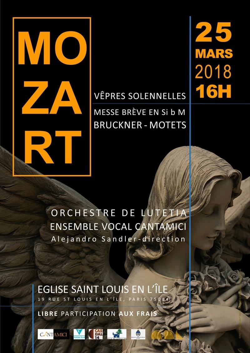 Concert Mozart et Bruckner mars 2018