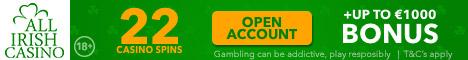 All Irish Casino 22 Free Spins No Deposit Bonus €/$500 Bonus