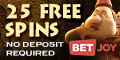 BetJoy Casino Mobile 20 Free Spins no deposit bonus exclusive