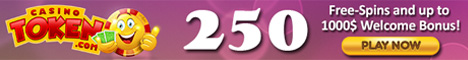 Casino Token 10 Free Spins no deposit bonus