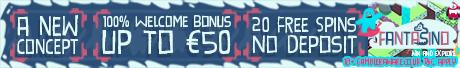 Fantasino Casino 20 Free Spins no deposit Bonus
