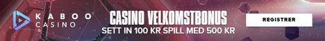 Kaboo Casino sett in 100 KR spill med 500 KR