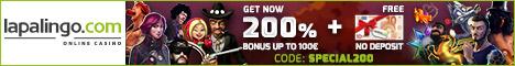 Lapalingo Casino $/€10 no deposit Bonus + 20 free spins