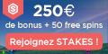 Stakes Casino 7€/$ bonus sans depot