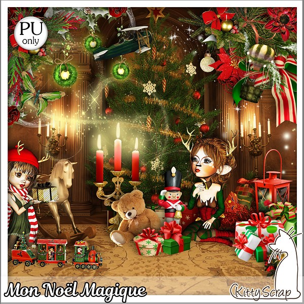 Mon Noel magique de Kittyscrap dans Decembre kitty119