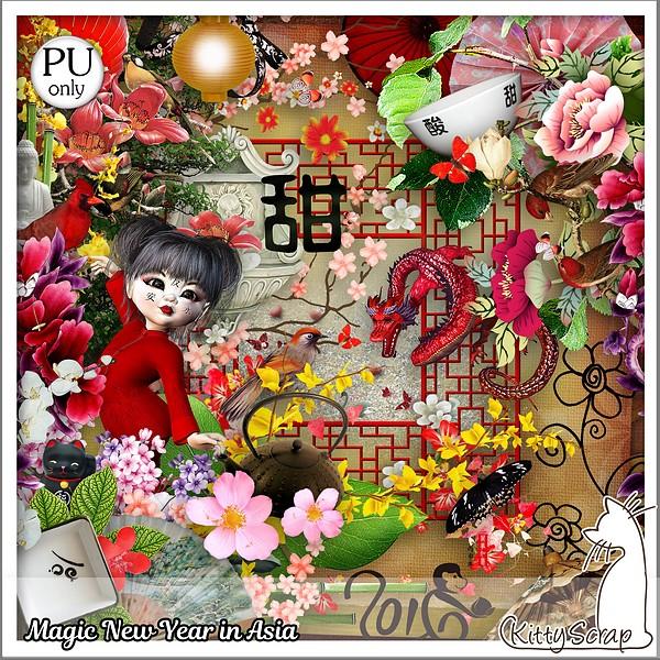 Magic new year in Asia de KittyScrap dans Janvier kitty145