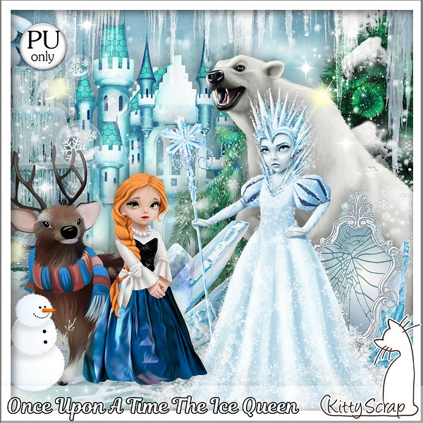 Once upon a time The ice Queen de Kittyscrap dans Janvier kitty158